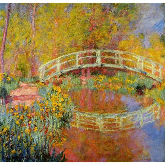 De brug in monets tuin van claude monet art schilderijen canvas reproductie handgeschilderde in - Fotos de cuadros de monet ...