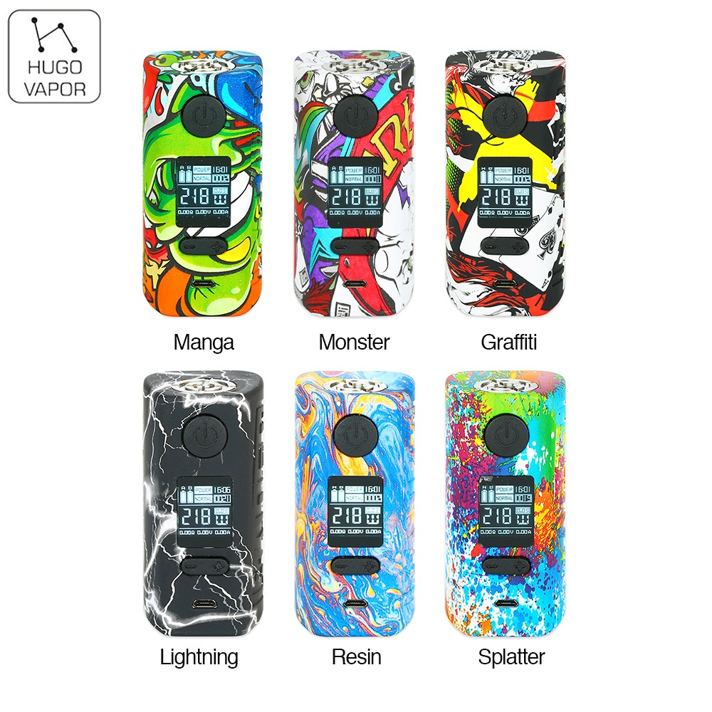 Original Hugo Vapor Rader Mage TC Box MOD Max 218W Mod Supports VW/TC/Curve/Preheat No 18650 Battery Box Mod Vs Storm230 / Thor original 218w hugo vapor rader mage tc box mod with nylon fibre frame powered by dual 18650 battery vape box mod vs storm230 mod