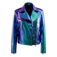 Vox Lux Albertine Jacket Young Celeste Cosplay Costume Women Bling PU Jacket Coat