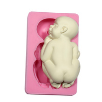 11cm Big Fondant Baby Molds Used Soap Candle Sugar Chocolate Bakeware Cake Decorating Arts Crafts