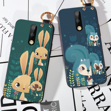 Wrist strap Rabbit Cases For Nokia 5 6 7 X5 X6 X7 2018 8 9 P