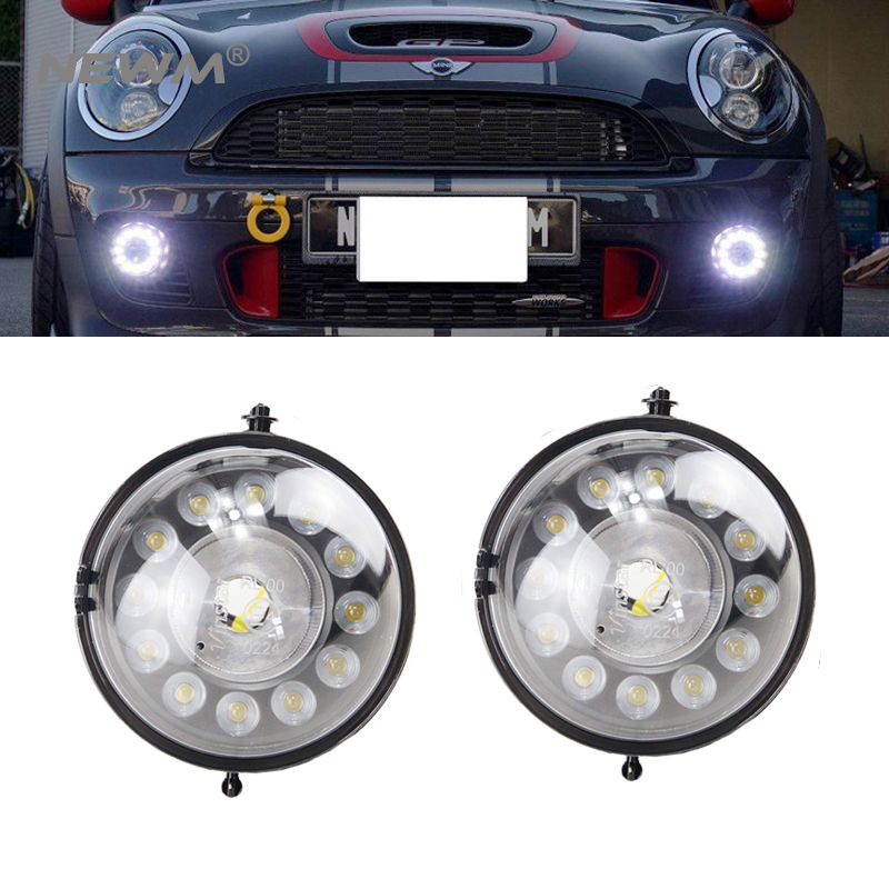 LED Fog Lamp Led Daytime Running Lights DRL Front Bumper Position Light case for MINI Cooper R55 R56 R57 R58 R59 R60 new led daytime running lights drl with halo ring angel eyes for mini cooper rally driving lights front bumper 6000k 1900lm auto