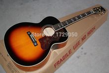 Free shopping factory custom New Arrival Sunburst j200 Electric Acoustic Guitar with 101 EQ High Quality 1110