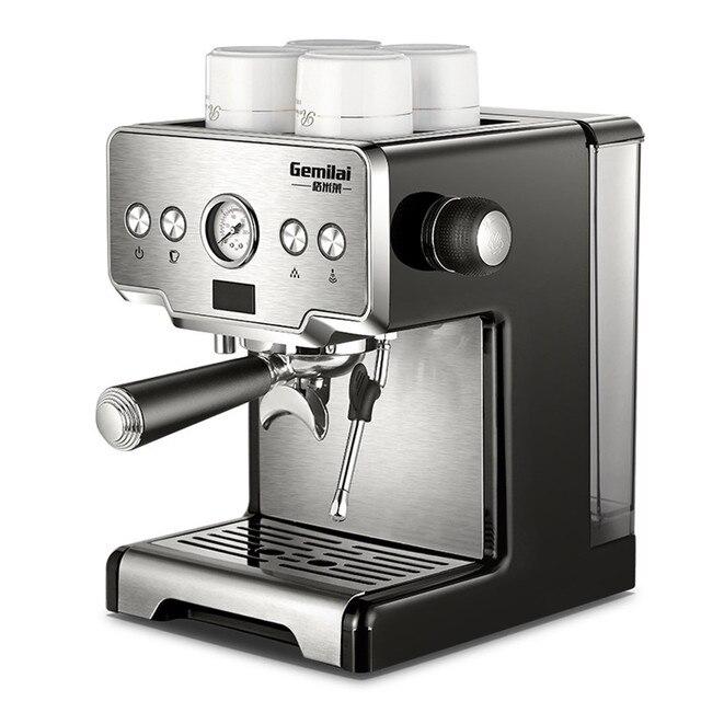 Máquina de Espresso italiana semiautomática a presión de 15 Bar, CRM 3605 de café comercial, cafetera con depósito de agua de 220V y 1,7 L