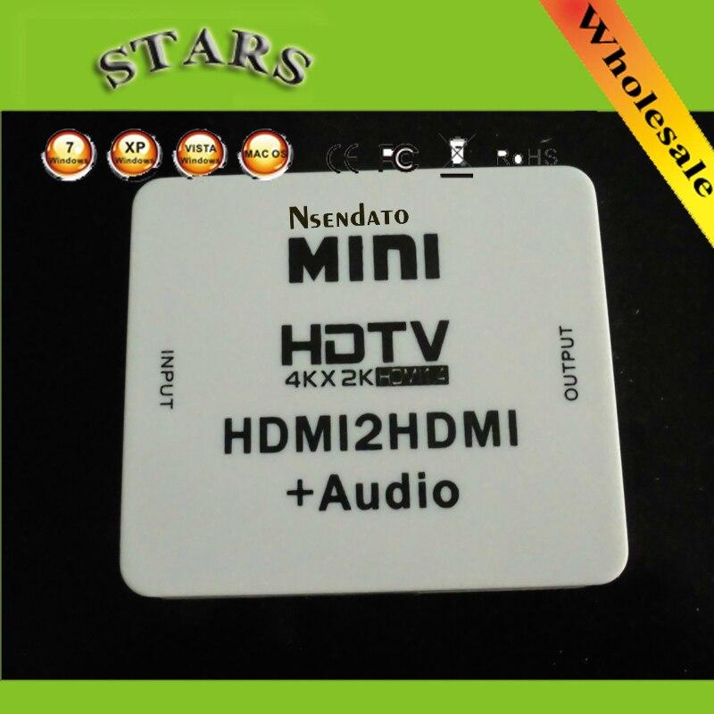 Neue 1080 P Mini HDMI2HDMI HD Konverter HDMI zu mini 4 karat * 2 karat HDMI 1,4 Audio extractor Adapter switcher Für PC Laptop HDTV projektor