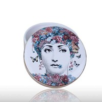 Jewelry Storage Box Fornasetti Hepburn Earrings Pendant Necklace Simplicity Collectible High end Ceramic Crafts Supplies L3286