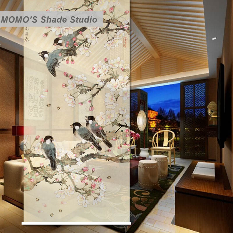 MOMO Roller Blinds Shades Blackout Floral Window Curtains Roller Shades Blinds Thermal Insulated Fabric Custom Size, Alice 469MOMO Roller Blinds Shades Blackout Floral Window Curtains Roller Shades Blinds Thermal Insulated Fabric Custom Size, Alice 469