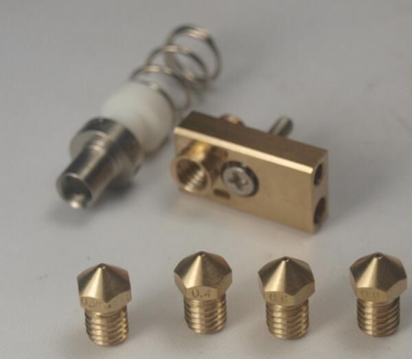 1.75/3mm Ultimaker 2 Extended 3D printer parts Ultimaker 2+ UM2+ Olsson block nozzle hotend kit for Extended+ upgrade part