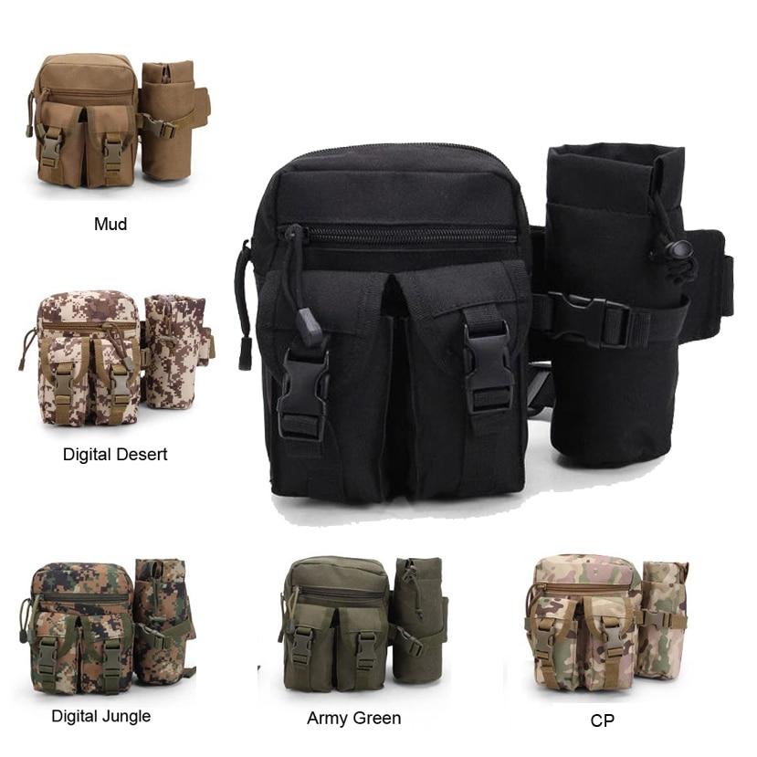 Tactical Military Molle Bag Outdoor Travel Sport Bag Fanny Pack Detachable Water Bottle Holder Waist Belt mini Pouch Pocket