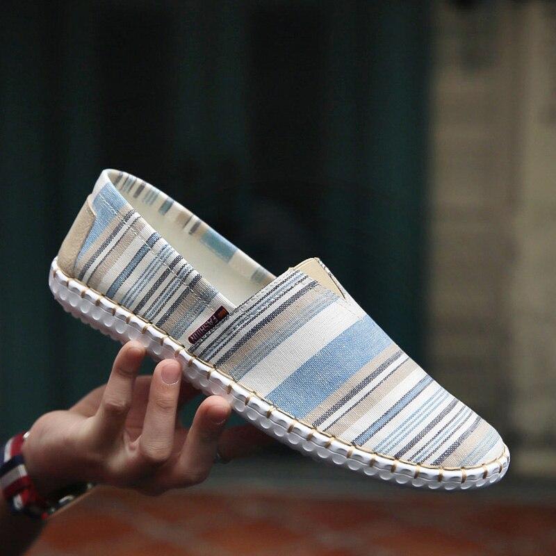 Summer Men Canvas Shoes Espadrilles Breathable Casual Shoes Men Loafers Comfortable Ultralight Lazy Shoes Chaussures KM598-612Summer Men Canvas Shoes Espadrilles Breathable Casual Shoes Men Loafers Comfortable Ultralight Lazy Shoes Chaussures KM598-612