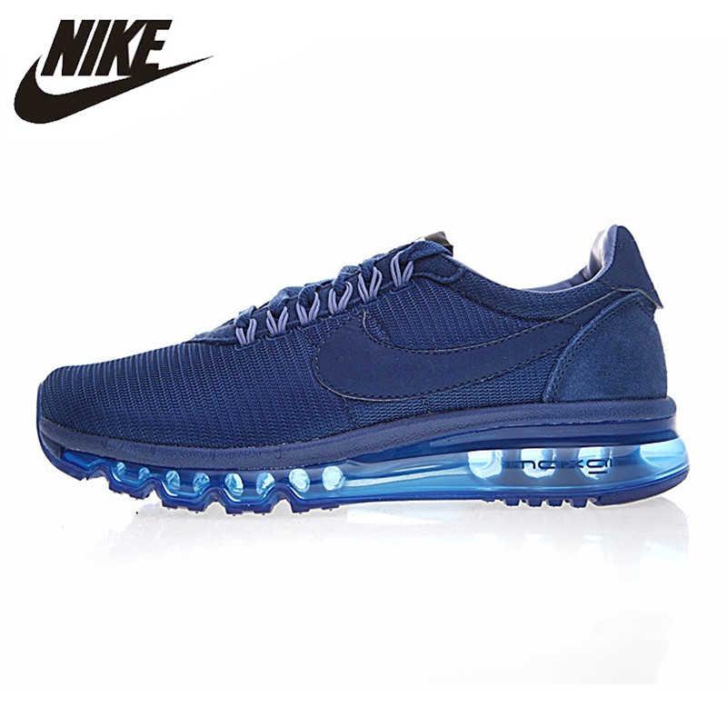 Tênis de Corrida dos homens NIKE AIR MAX LD-ZERO, Originais Esportes Sapatos Tênis Ao Ar Livre, Azul Escuro, luz respirável 848624-400