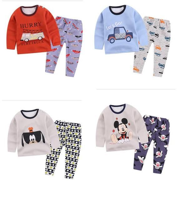 83aab5a695c0 baby winter Pajamas clothes New Cotton Children clothes Tracks Suit ...