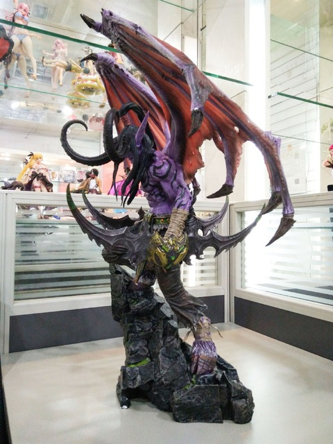 [New] Limited Large size 60cm WOW Illidan gk resin statue figure collection model Original box best gift 2