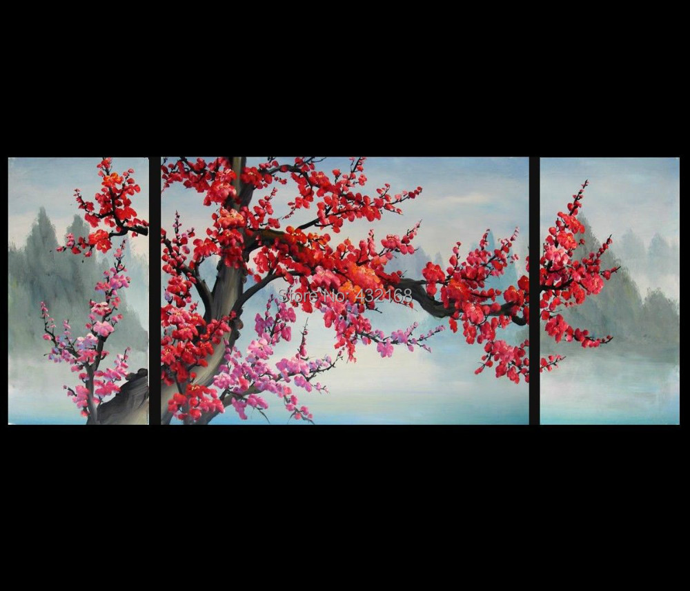 Japanese Cherry Blossom Abstract Art Paintings Modern Wall Art Decor Canvas  +framed In Painting U0026 Calligraphy From Home U0026 Garden On Aliexpress.com |  Alibaba ...