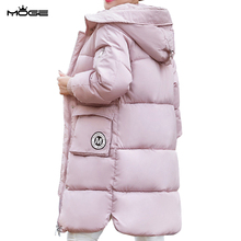 MOGE thick long women winter jacket fashion warm slim outerwear coat long sleeve long winter coat abrigos mujer manteau femme