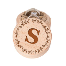 Изготовленное на заказ кольцо монограмма коробка деревянное свадебное кольцо шкатулка деревенское Свадебное предложение кольца коробки помолвка подарок на девичник