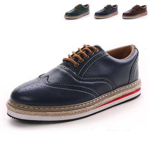 grade patent leather shoes men Brogue