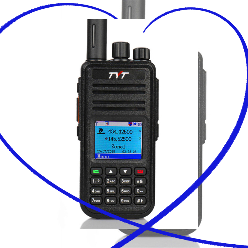 TYT MD UV380 DMR Walkie Talkie Dual Band UHF VHF Tier1 2 5W Digital Two Way