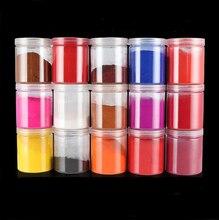 Pigmentos mineral naturais foscos diferentes, tinta em pó de ferro, oxides de ferro, tintura de argila de polímero, hobby diy