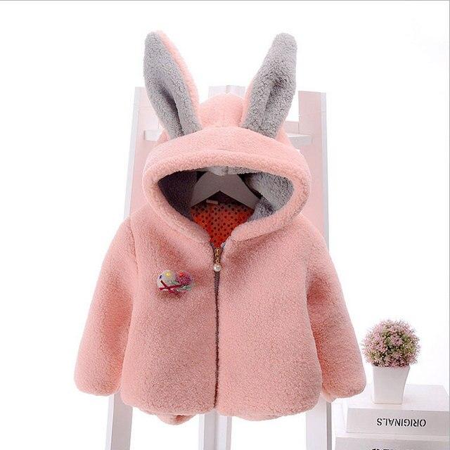 2016 осенью новый новорожденных девочек одежда толстая овечьей шерсти пальто открытый одежда для младенцев детская одежда милый ребенок девушка куртка верхняя одежда