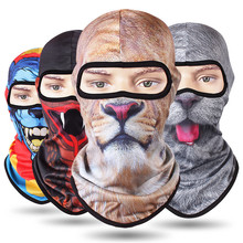 Windproof Cycling Face Mask Scarf New 3D Animal Sport Scarf Balaclava Dustproof Bike Full Face Scarf Bicycle Snowboard Ski Mask