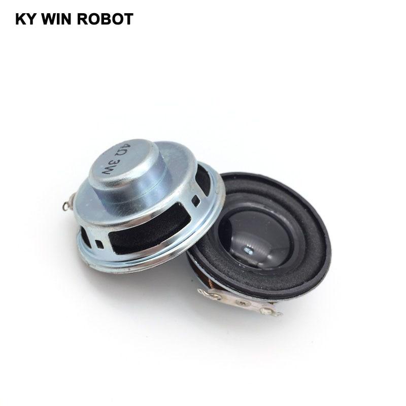 Купить с кэшбэком 2PCS/Lot High Quality Speaker Horn 3W 4R Diameter 4CM Mini Amplifier Rubber Gasket Loudspeaker Trumpet
