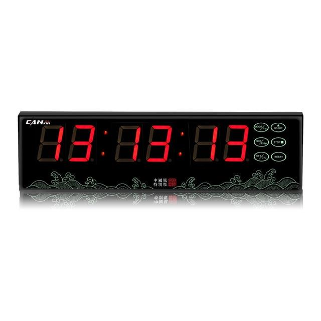 GANXIN battery powered led countdown timer desk clock wall clockin