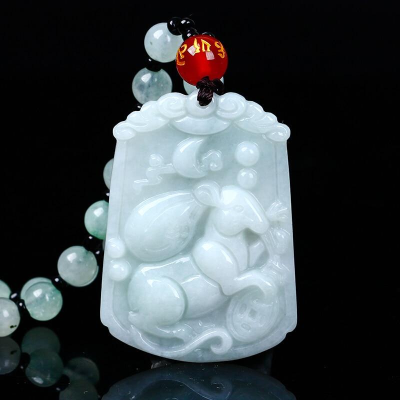 Buy Cheap Natural Jadeite Chinese Zodiac Jade Pendant Zodiac Rat Transshipment Jade Yu Pei Necklace Pendant Send A Certificate Fine Jewelry
