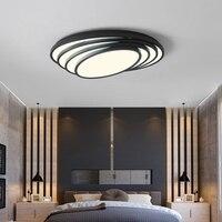 Белый/черный овальный современный светодио дный светодиодный потолочный светильник для гостиной спальни кабинет AC85 265V домашний Дек соврем