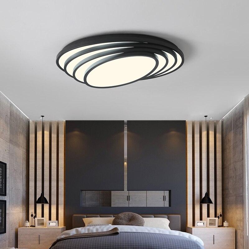White/Black oval Modern Led Ceiling Lights For living room bedroom Study AC85-265V Home Dec Modern Led Ceiling Lamp luminarias декор ceradim modern dec 1 25x45