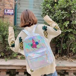Mochila infantil lasera szkoła torby holograficzny torba plecak szkolny dla dziewczynek plecak szkolny torba dla dzieci plecaki dla dzieci 4