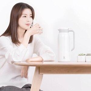 Image 3 - Youpin VIOMI termo kupa 1.5L paslanmaz çelik vakum bardak 24 saat şişesi su şişesi kupası bebek açık akıllı ev