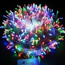 цена на Christmas Outdoor String Lights Garland AC220V 10M 20M 30M 50M 100M Waterproof LED Fairy Light Wedding Party Xmas Holiday Light