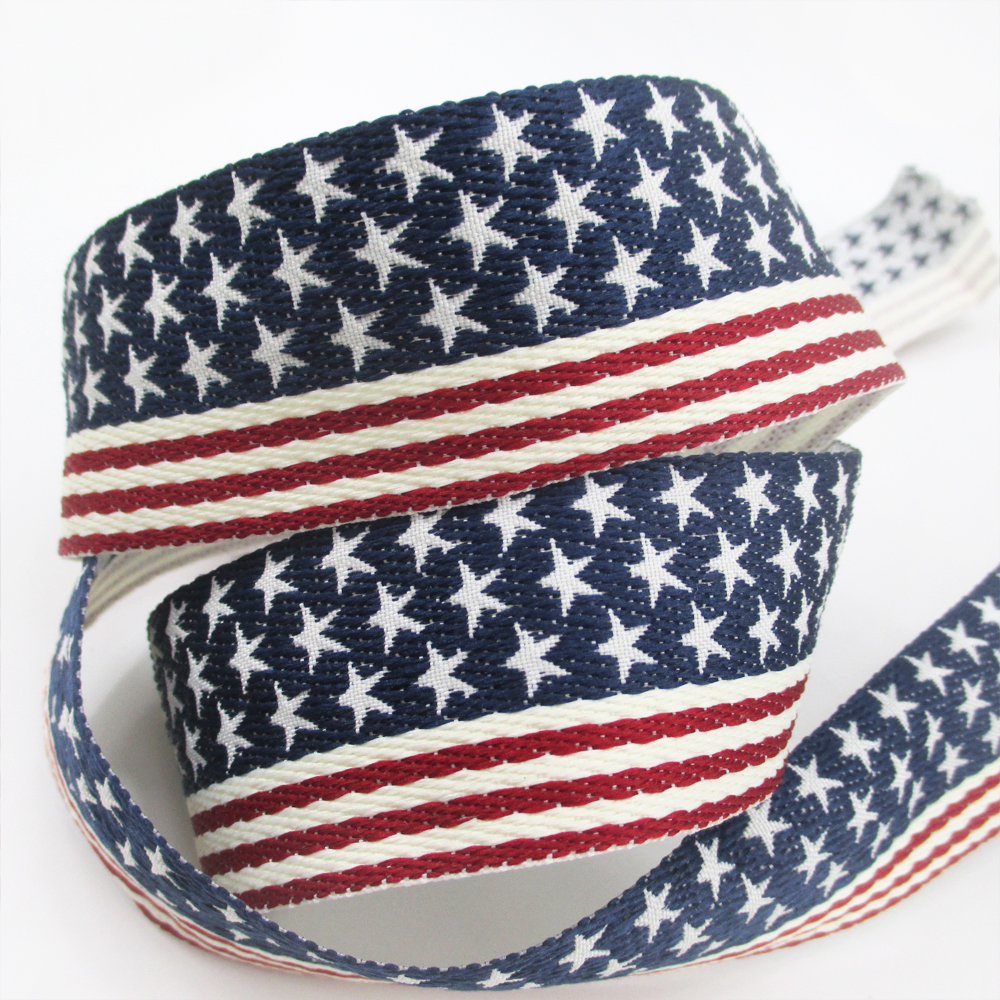 Arts,crafts & Sewing 5yds Per Roll Flag Jacquard Ribbon High Quality 5 Yards,diy Handmade Materials,wedding Gift Wrap,5y49822 Warm And Windproof Ribbons