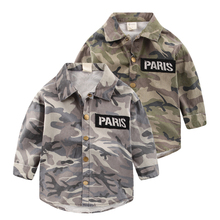 Boys camouflage shirt jacket 2017 spring Korean new kids shirt children baby jacket U5168