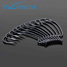 Trulinoya 40PCS 4Bags BKK Wide Belly Hook Barbed Offset Hooks Fit for Texas Carolina Florida Rigs  Soft Bait Lures