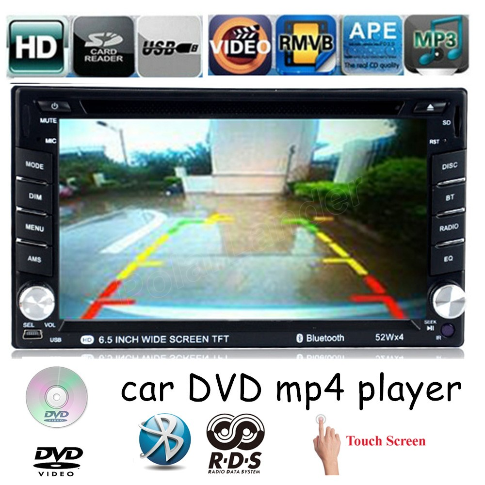 все цены на Touch Screen 2 DIN bluetooth 6.5 inch USB SD card Car DVD player MP4 support 7 languages rear camera AM FM RDS