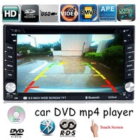 Touch Screen 2 DIN bluetooth 6.5 inch USB SD card Car DVD player MP4 support 7 languages rear camera AM FM RDS