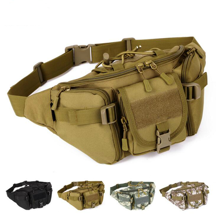 X-Online 040117 Hot Sale Man Camouflage Printing Waist Bag Men Cashing Bag