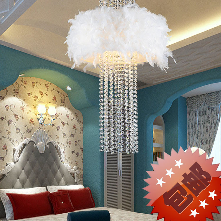 Free Shipping! Modern Luxury Droplight Ceiling Lamp Absorb Dome Light k9 Crystal Feather Chandelier Flush Mount For Living Room free shipping energy conservation lamp household restaurant absorb dome light mosaic droplight pendant lights 31