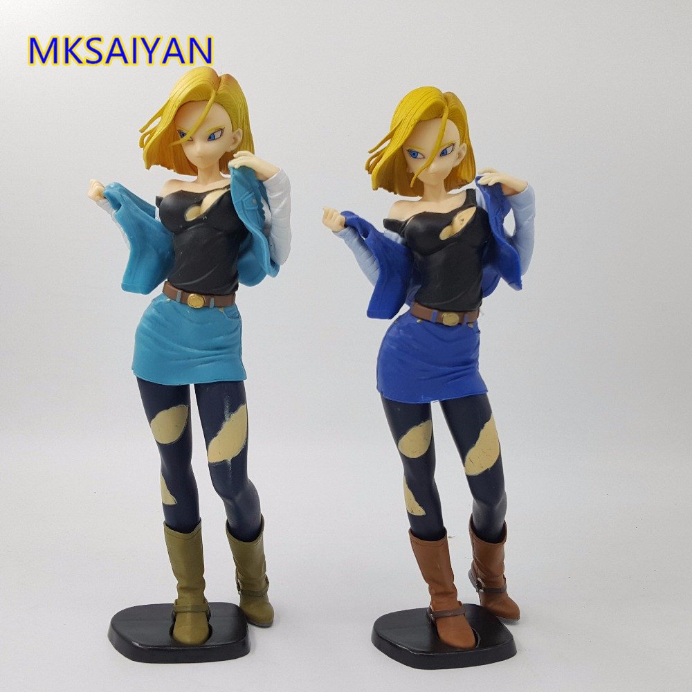 Anime <font><b>Figure</b></font> <font><b>Dragon</b></font> <font><b>Ball</b></font> Z Android 18 Glitter & Glamours PVC <font><b>Action</b></font> Figurine Toys Brinquedos <font><b>Sexy</b></font> Girl Collector Model Doll Gift image