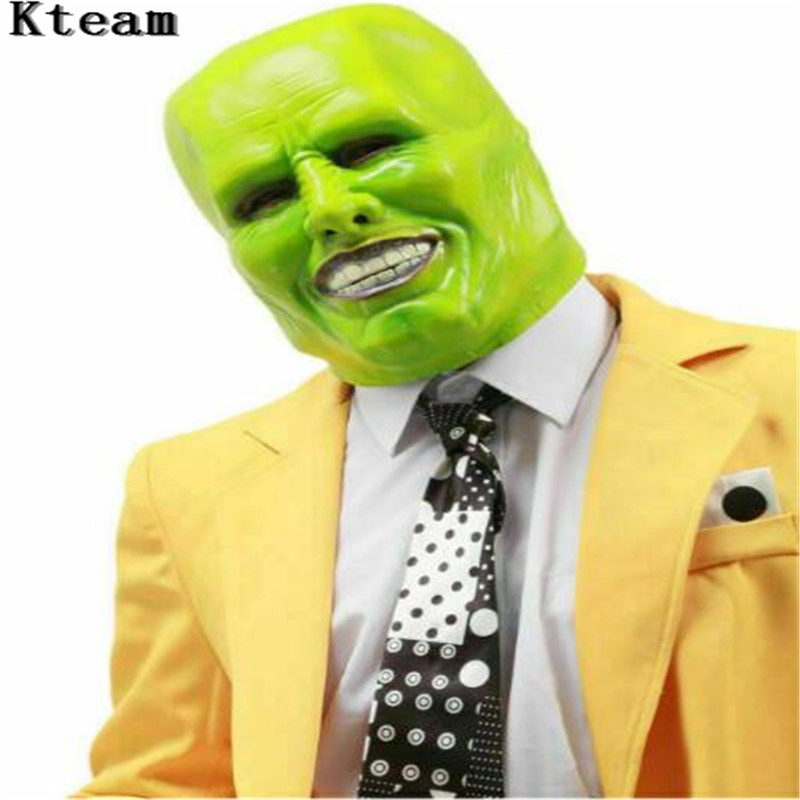 Funny The Jim Carrey Movies Mask Cosplay Green Mask Costume Adult Fancy Dress Face Halloween Masquerade Party Cosplay Clown Mask image