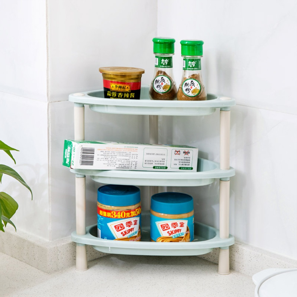 3 Layers Multifunction Kitchen Storage Rack Hanging Hook Shelf Dish ...