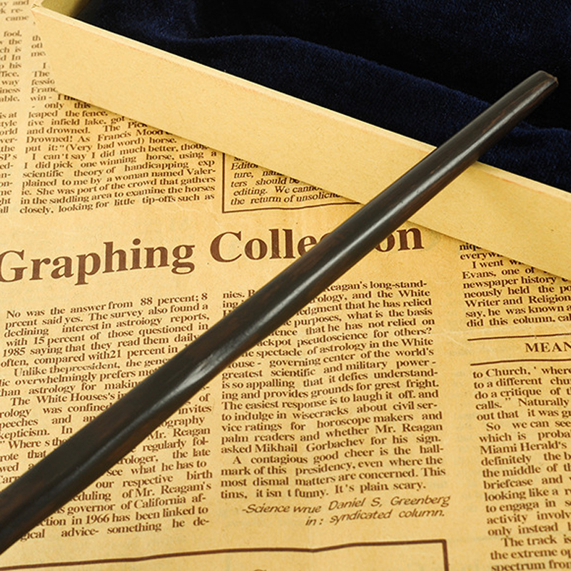 New With Iron Core New Quality Deluxe COS HP Ron Weasley Magic Wand Magical Wands With Gift Box Packing