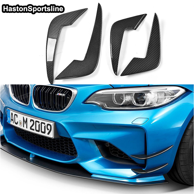 Car Accessories For BMW F87 M2 Front Side Air Vent Carbon Fiber Front Bumper Fins Trims Decoration 2016~2018-in Body Kits from Automobiles & Motorcycles    3