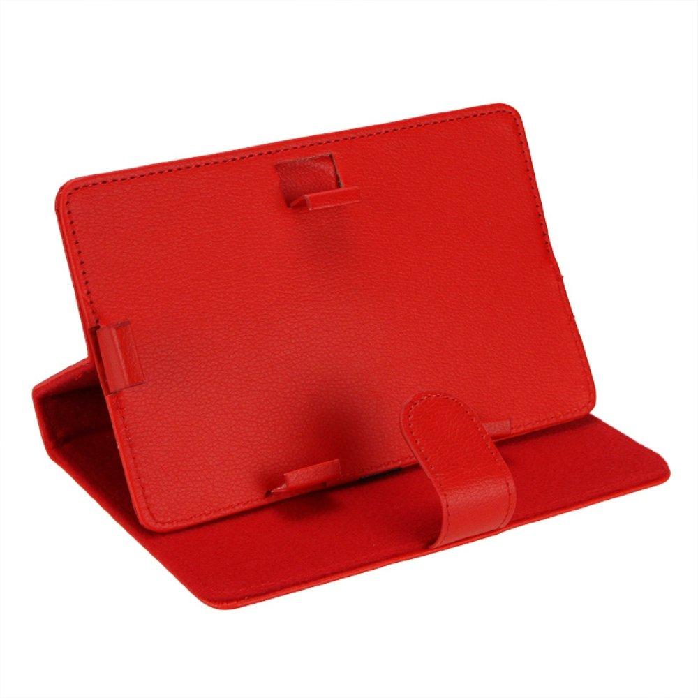 Акция! Горячие кожаные папки чехол Обложка кожа чехла, таблетки крышка, чехол для планшета для 7 дюймов Tablet PC (красный 7 дюймов)