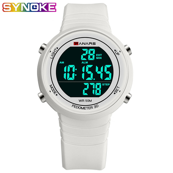 PANARS Digital Watch Men El Luminous Watch Religion Male Dive LED Silicone White Black Watch Electronics Wristwatches Watch Men