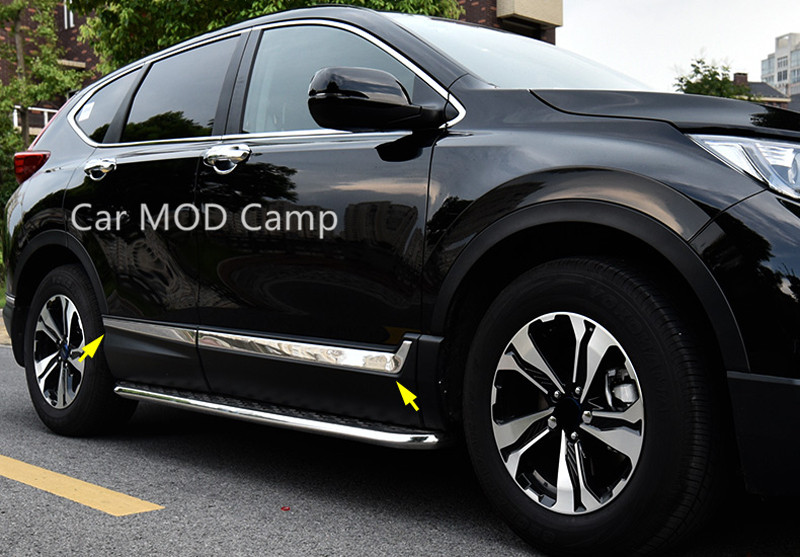 For Honda CRV CR-V 2017 2018 ABS Chrome Car Body Molding Cover Decoration Trim 6pcs Car Styling accessories!