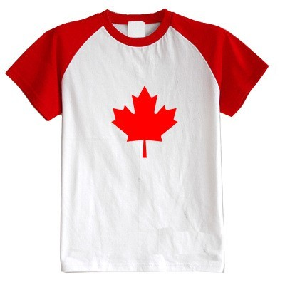 Niños camiseta del verano de manga corta de la bandera Canadiense ropa del bebé 100% algodón niño niña kid t shirt