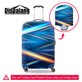 Dispalang striped travel accessories waterproof luggage protective cover colorful lighting women suitcase covers for 18-30 inch